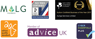 MALG Member, ISO 9001, Sutton Coldfield Business of the Year, Advice Quality Standard, Member of Advice UK, Cyber Essentials Plus