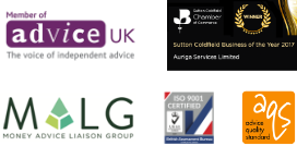 MALG Member, ISO 9001, Sutton Coldfield Business of the Year, Advice Quality Standard, Member of Advice UK